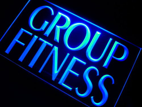 Group Fitness Logo LED Sign